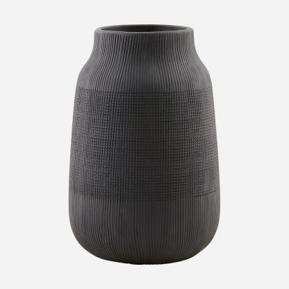 Groove vase sort produktbilde