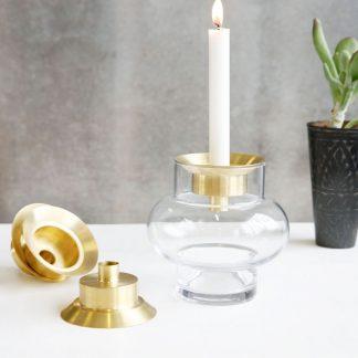 Forms low vase Lid lysestake