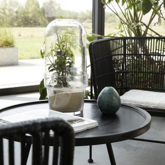 Glassklokke med potte