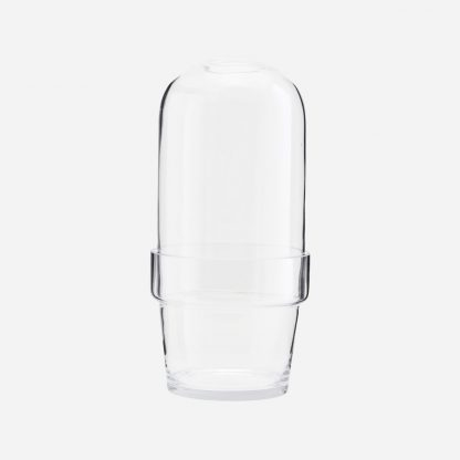 Glassklokke med potte produktbilde