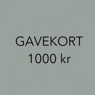 Gavekort interiør 1000