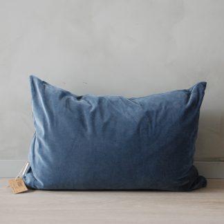 Putetrekk Velvet Matt Mold blue 60x40 cm Mille Moi