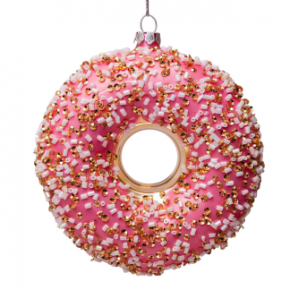 Julekule julepynt donut rosa Vondels
