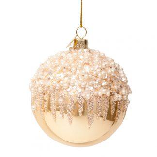 julekule perle med fyrverkeri Vondels