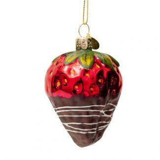 julekule julepynt jordbær med sjokolade vondels
