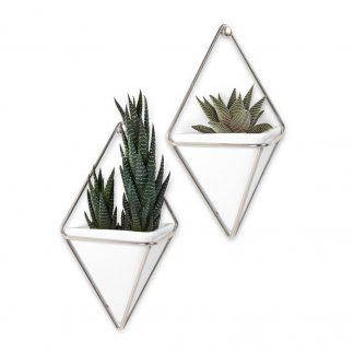 Trigg veggpotter small hvit/sølv Umbra