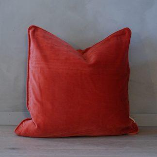 Putetrekk matt velvet velour fall rød Mille Moi