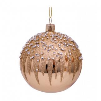 julekule gull med diamanter fyrverkeri Vondels