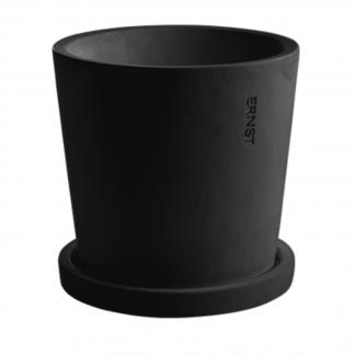 Betong potte Ernst mørk grå