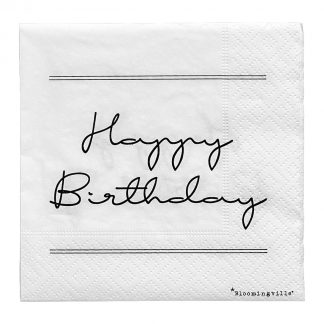 Happy Birthday servietter Bloomingville