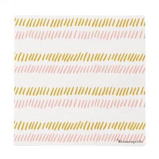 Striped serveitter Bloomingville rosa gull