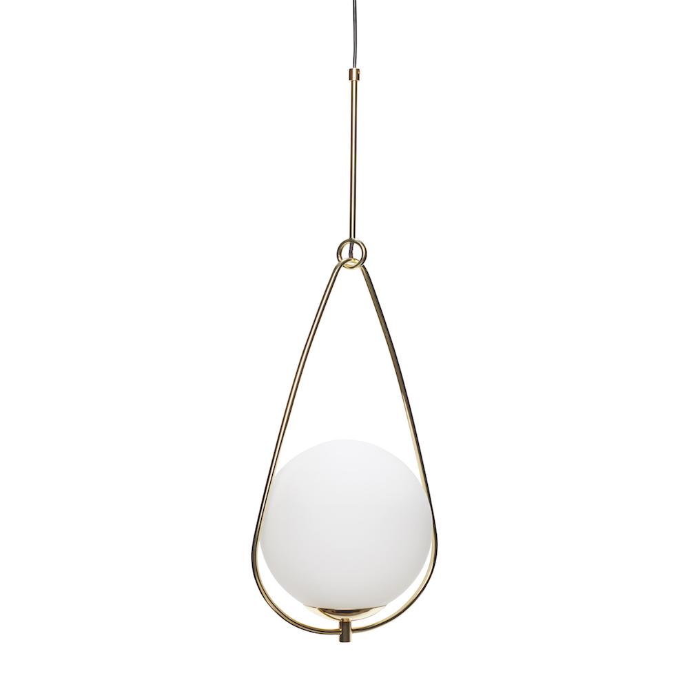 Svært Lampe glass/metall, hvit og messing - Kaktus Interiør AS ME-43
