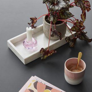 Lysestake krystall Hübsch rosa pink smoke grå