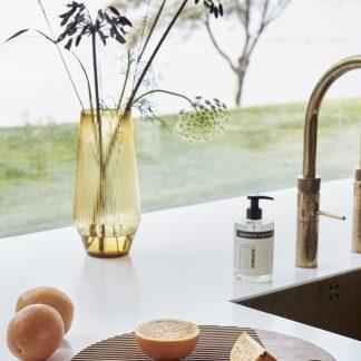 Glassvase amber Hübsch vase
