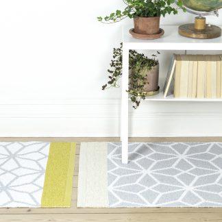 Rug prisma yellow teppe plast Design Lina Johansson