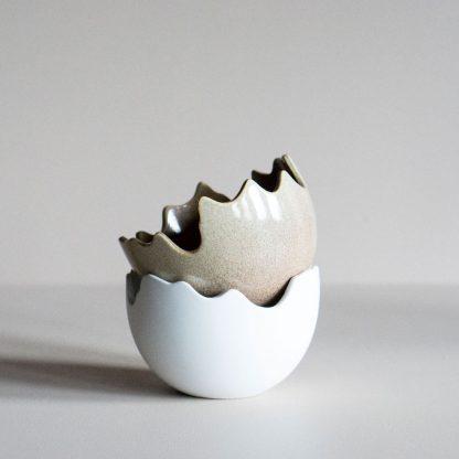 Happy Easter skål hvit DBKD påske