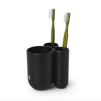 Tannbørsteholder matt sort svart Umbra