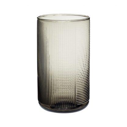 Smoked glassvase vase Hübsch