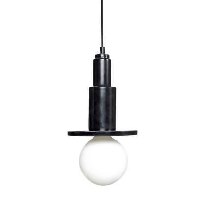 Lampe pendel sort marmor Hübsch