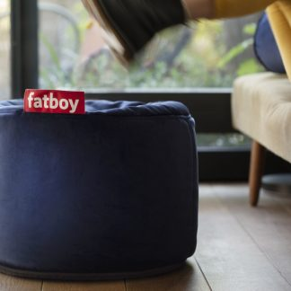 Fatboy point velvet dark blue puff velour
