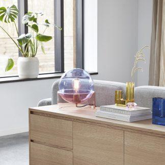 Bordlampe blå rosa Hübsch Interiør