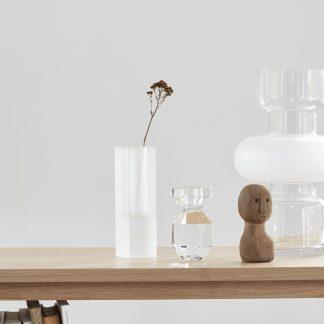 Vase glass frostet Hübsch Interiør