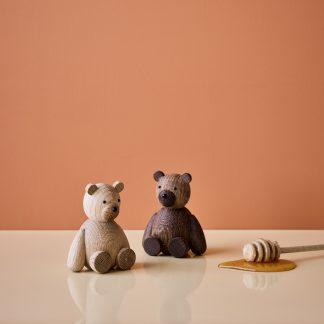 Teddy bjørn bamse Lucie Kaas eik 9 cm
