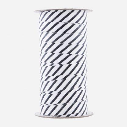 Stripet gavebånd hvit sort House Doctor Monograph