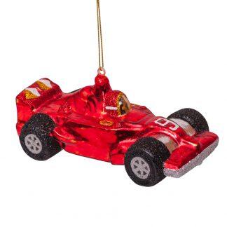 Rød racerbil julekule Vondels Amsterdam