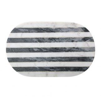Skjærebrett marmor hvit sort Bloomingville