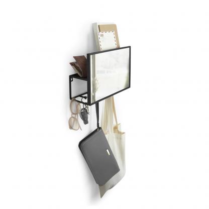 Cubiko hylle med speil og knagger Umbra
