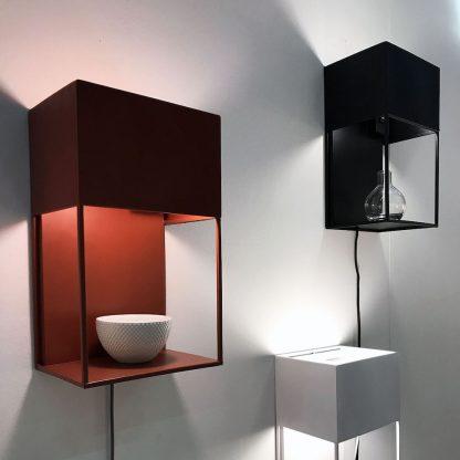 Box vegglampe sort Globen Lighting