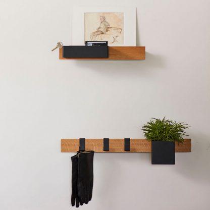 Flex rail 60 cm eik/sort Gejst Design