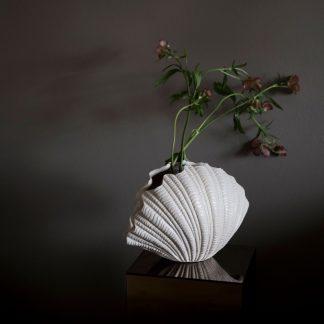 Shell vase skjell vase hvit byon interior