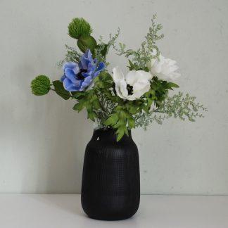 Bukett 1 hvit blå anemone Mr Plant