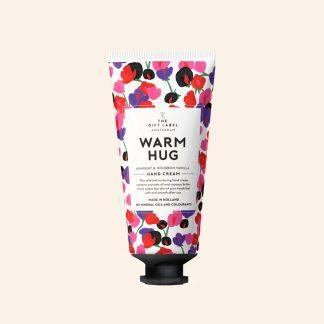 The gift label håndkrem tube Warm hug