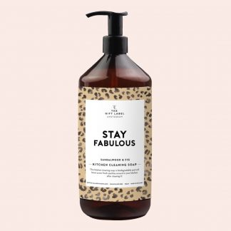 The gift label stay fabulous kjøkkensåpe kitchen cleaning soap