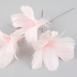 Fjær med tråd A lot Decoration lys rosa