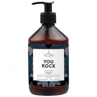 The gift label body wash herre men you rock
