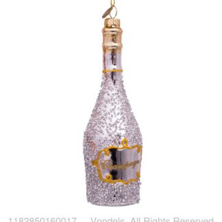 ornament sølv champagne flaske Vondels