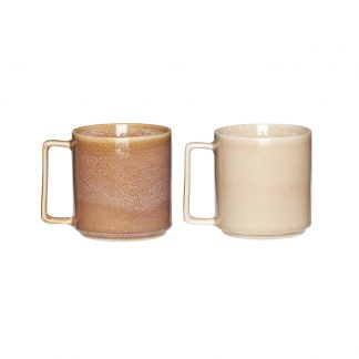Keramikk kopp s/2 hubsch interiør brun sand