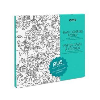 Fargeleggingsplakat omy atlas