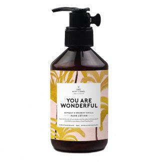 The gift label hand lotion håndkrem you are wonderful