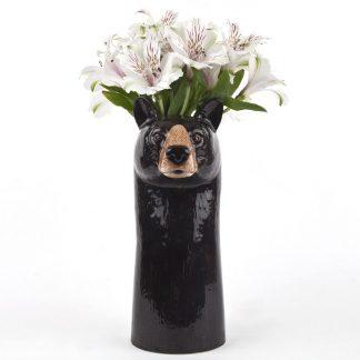 Quail ceramics vase svartbjørn