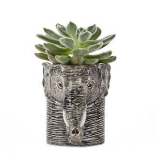 Quail ceramics pencil pot elefant