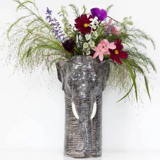 Quail ceramics vase elefant