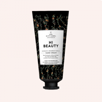The gift label håndkrem tube hi beauty