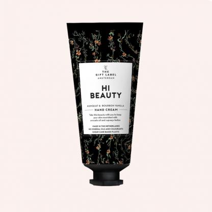 The gift label håndkrem tube hi beauty