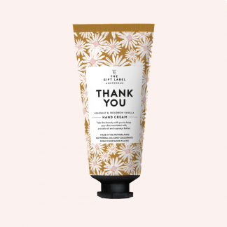 The gift label håndkrem tube thank you