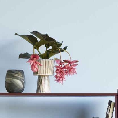 Blomsterpotter keramikk 2 stk beige sort Hübsch Interior